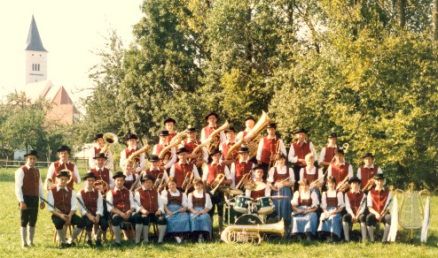 Musikkapelle im Jahr 1985