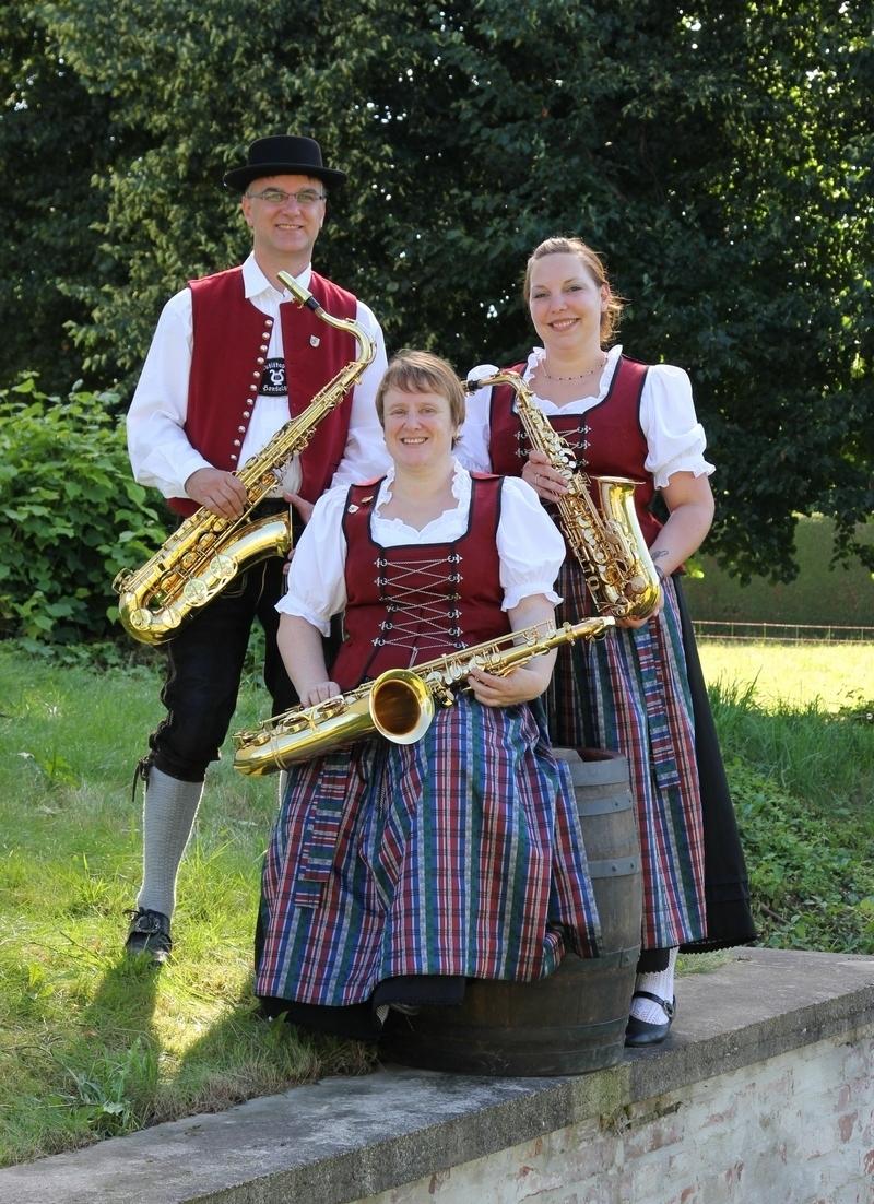 Saxophone: Bernhard Dodel, Elfriede Brenner und Sabrina Diepolder