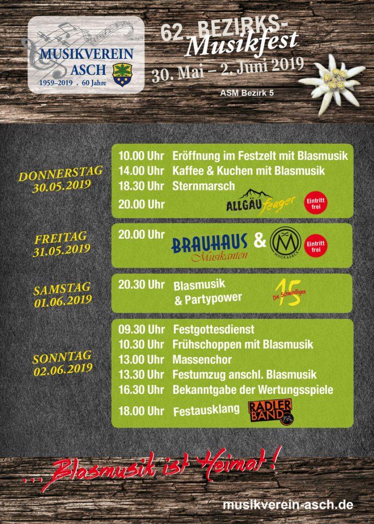 Bezirksmusikfest 2019 ASM Bezirk 5 in Asch