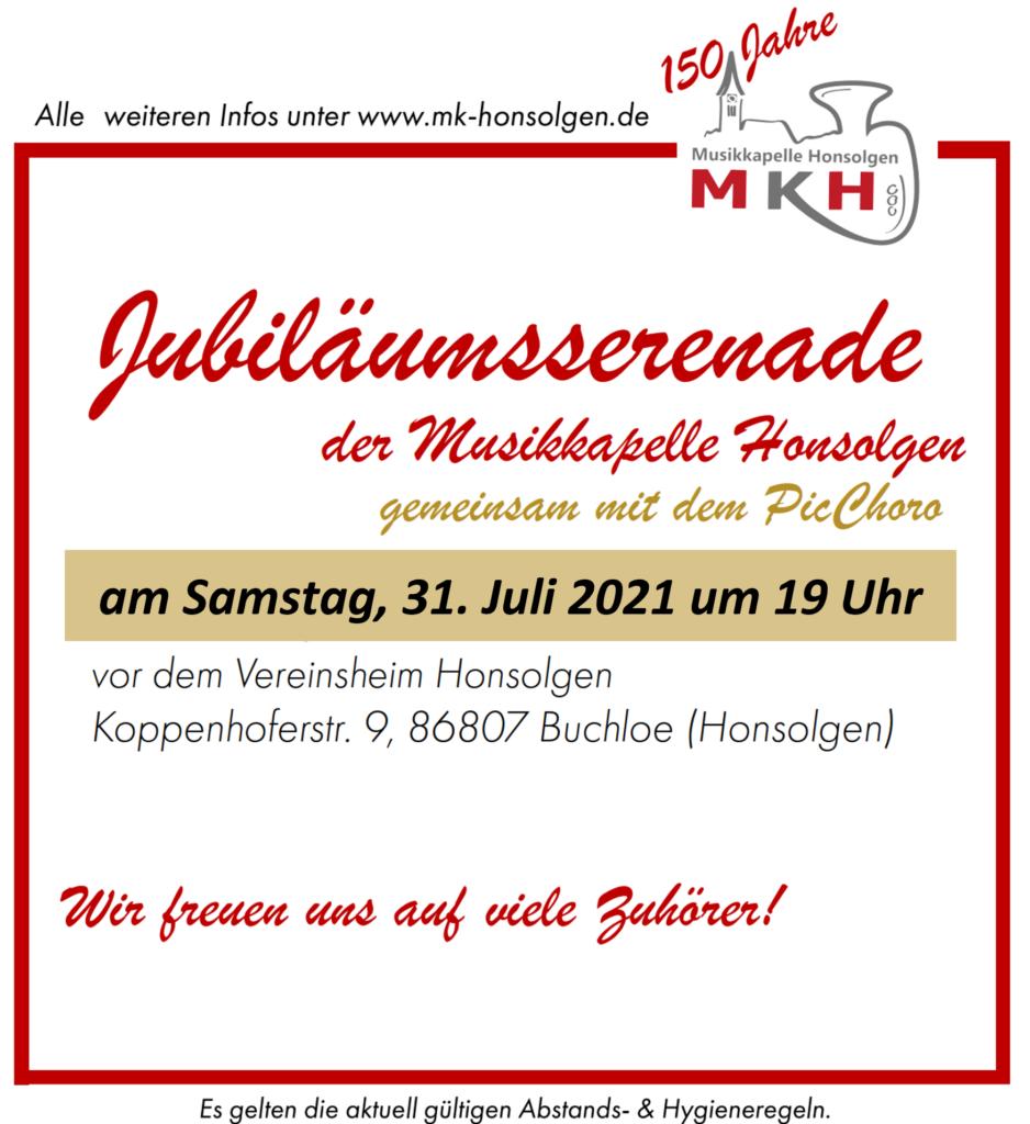 Jubiläumsserenade @ Vereinsheim Honsolgen